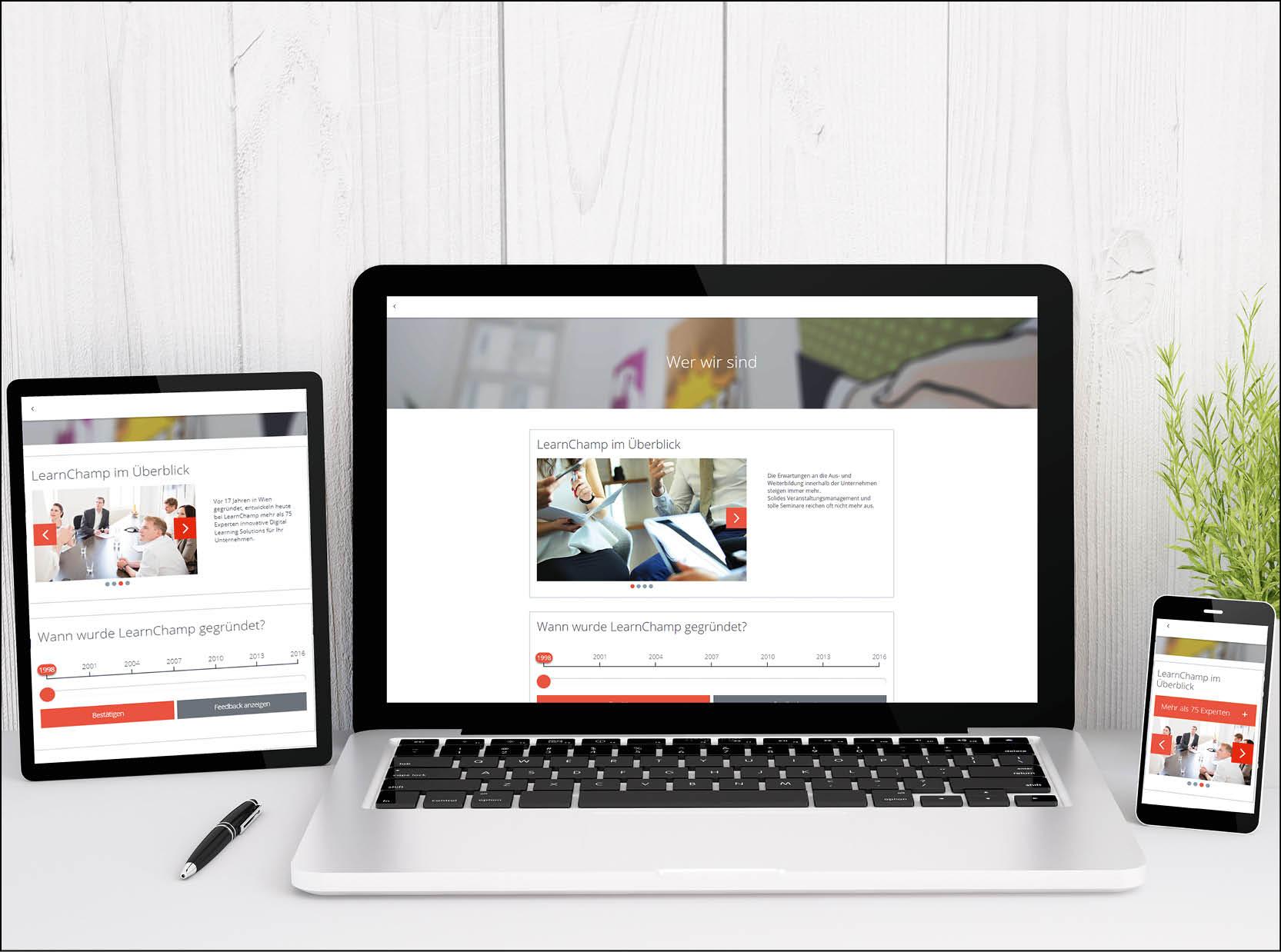 Intern großartige E-Learning Inhalte gestalten mit den Adapt Ready-to-use Services