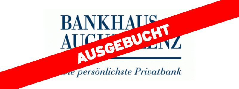 Bankhaus August Lenz ausgebucht
