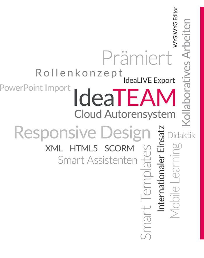 IdeaTEAM – Das richtige Werkzeug für jede eLearning-Produktion