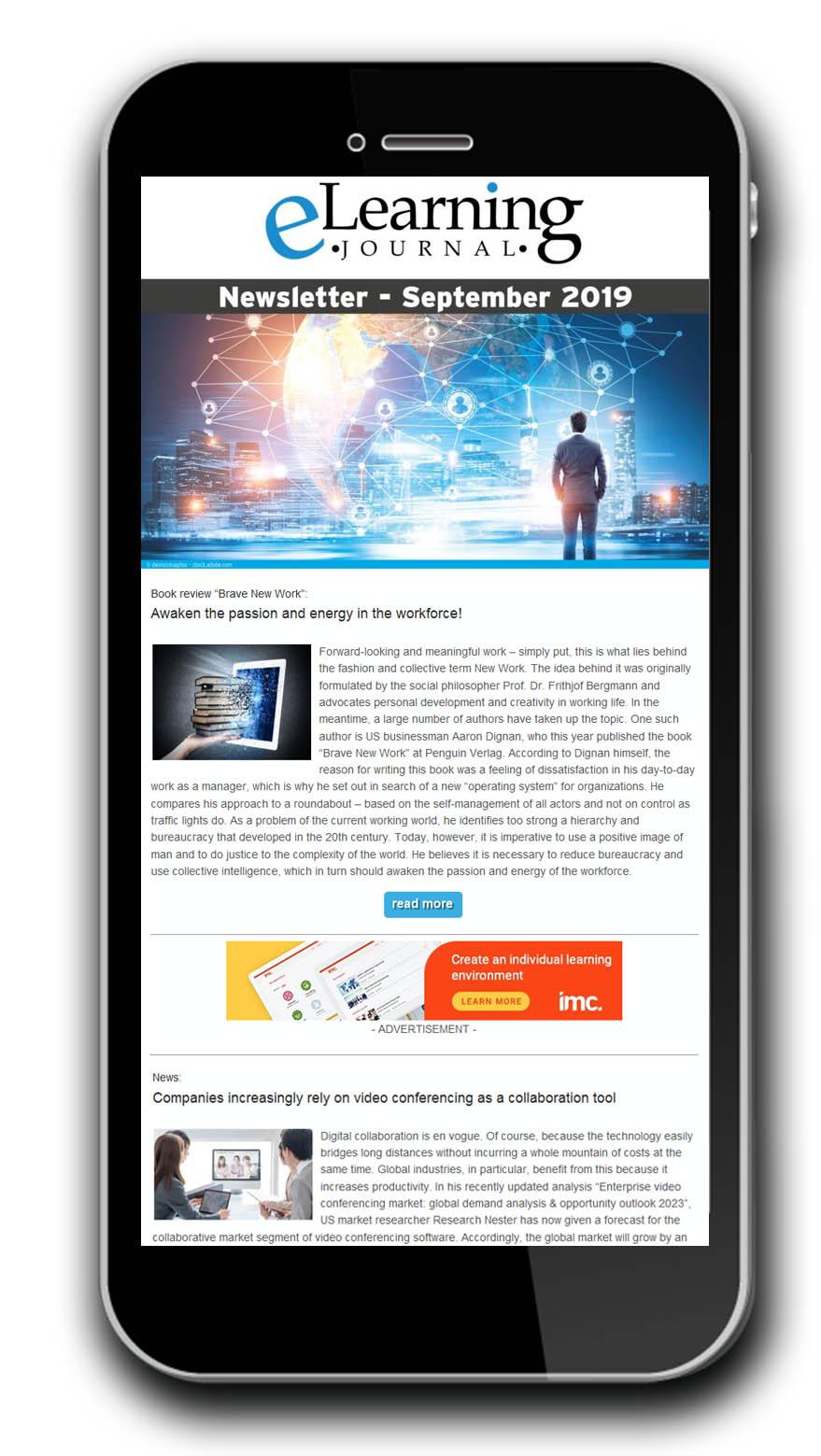 Newsletteransicht im Handy